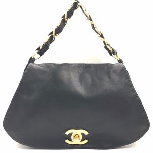 Authentic Chanel Lambskin Shoulder Bag